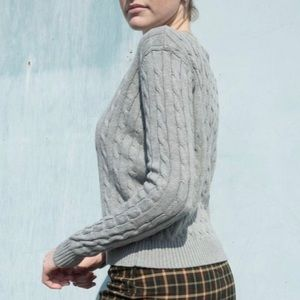 BRANDY MELVILLE Olsen grey cropped fit sweater